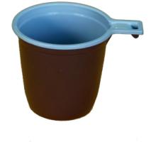 Чашка кофейная 0,2 бело-коричн.1/50/1500