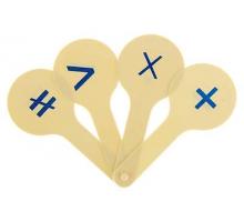 Касса-веер математические знаки 1/50