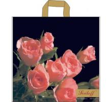 Пакет пет. 45*43 Премиум (Кремовые розы) С 100 мкм
