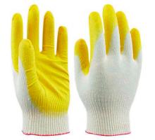 Перчатка Суперобрез. с латкс.покрытием .1/12/480 Желтые,оранж.