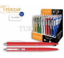 Ручка автомат на мас.ос.0,7мм Ассорти 5цв. кор.металлик, син.TZ4384