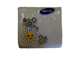Салфетка 1/50/100 белые Moris