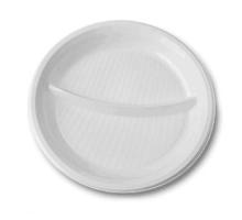 Тарелка D 205 2-х секц. белая. 1/100/1800